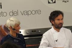 Carlo cracco e Giovanna Wale da Masterchef con Donna Frida